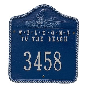 "Coastal Address Plaque - ""Welcome to the Beach"""