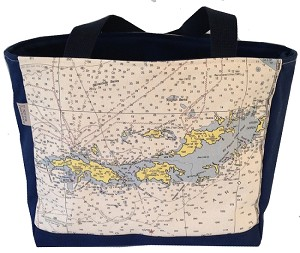 Chart Design Tote, Zip Top - NFN