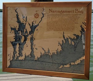 "Chart Art (Display), ""Narragansett Bay"" (SOLD!)"