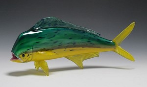 Saltwater Fish Glass Sculpture - Medium