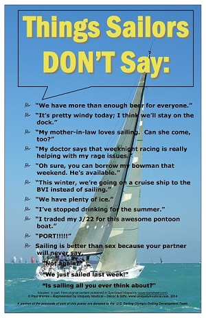"POSTER - ""Things Sailors Don't Say ..."""