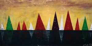 "Nautical Fine Art - Acrylic Painting:  ""Regatta"""
