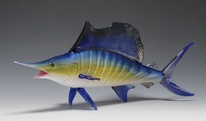 Saltwater Fish Glass Sculpture - Large