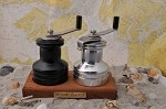 Sailing Winch Salt & Pepper Grinder Set with Teak Base