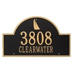 Nautical Address Plaque (Large) - Sailboat Design