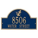 Nautical Address Plaque - Anchor Design