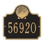 Nautical Address Plaque - Seashell Design