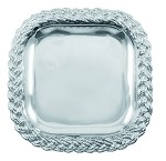 Braided Rope Square Serving Platter - Medium
