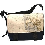 Chart Design Messenger Bag