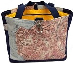 Chart Design Tote w.Side Panel & Clip - NFN