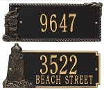 Coastal Address Plaque - Lighthouse or Seagull